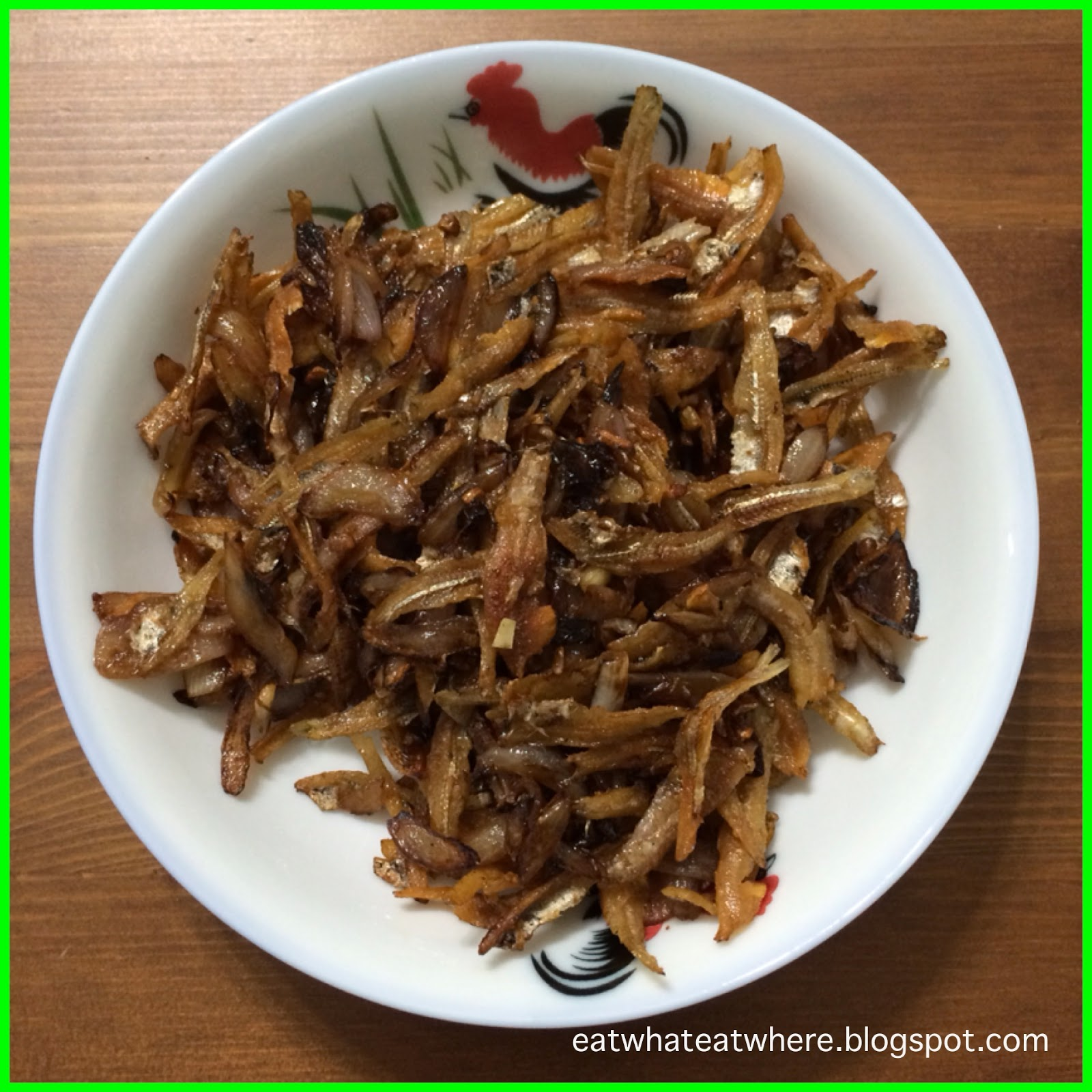 Eat what, Eat where?: #ewew cooks Fried Ikan Bilis with Onions